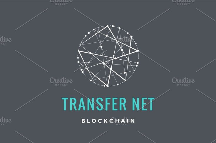 Logo for blockchain technology concept logo technology chain blue vector coded brand structure logotype digital currency blockchain cryptocurrency net…