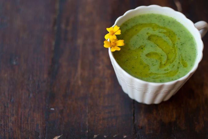 Spinach and Zucchini Soup - this was delish! I went lite on the olive oil and use sweet potato instead of idaho. YUM