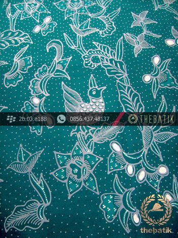 Kain Batik Tulis Yogyakarta Motif Ayam Mutiara Hijau | #Indonesia Traditional #Batik Tulis #Design. Hand-dyed and HandDrawn Process http://thebatik.co.id/kain-batik-bahan/batik-tulis/