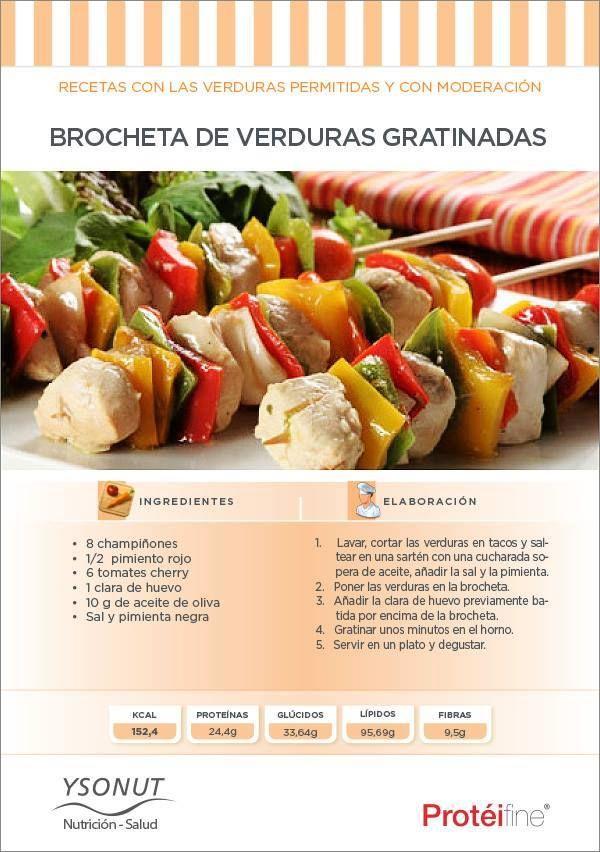 Brocheta de verduras granizadas  http://www.ysonut.com.ar
