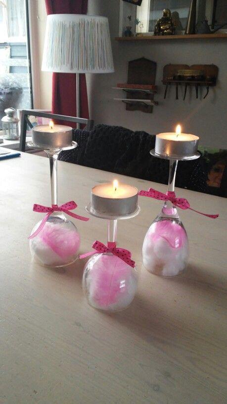 Tafel decoratie, themakleur roze