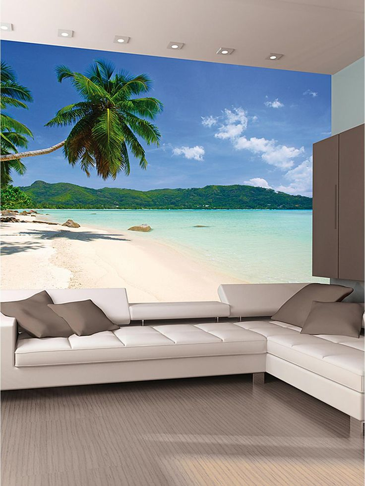 25 best ideas about beach mural on pinterest sea murals for Beach scene mural wallpaper