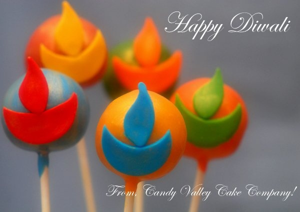 Diwali pops! Order from Candy Valley Cake Co.