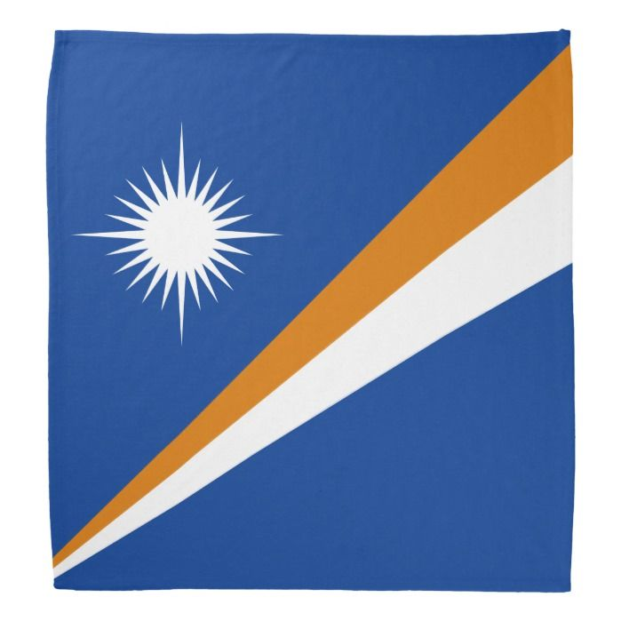 Marshall Islands Flag Bandana Zazzle Com In 2020 Marshall Islands Flag Flag Bandana Flag
