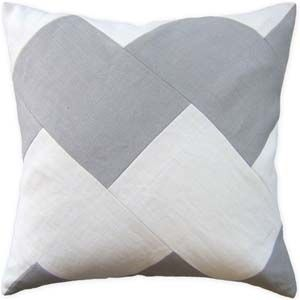 Gray and White Stripe Decorative Pillow