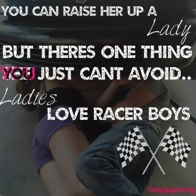 i didn't meet mine at the track, but he's into just as much as me. i love it!!! :)