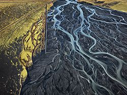 March 1 to May 26, 2014 at Vancouver Art Gallery  |  Don't miss A Terrible Beauty: Edward Burtynsky   Edward Burtynsky Markafljot River #1,  Erosion Control, Iceland, 2012 chromogenic print Collection of the Vancouver Art Gallery, Gift of the Artist © Edward Burtynsky, Courtesy Nicholas Metivier Gallery/Paul Kuhn Gallery, Calgary