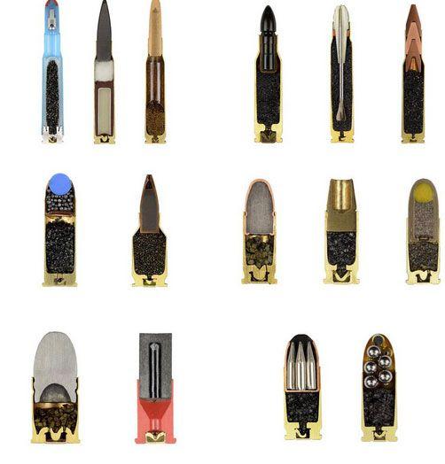 Gun-lőszer-Fedezze fel a csodálatos keresztmetszeti nézetet a 22 mindennapi tárgyak vágott fél 12