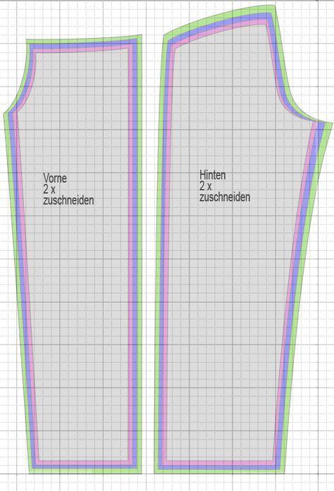 Wellnesshose Schnittmuster auf Karopapier 2x2cm, große Karos 10cm übertragen