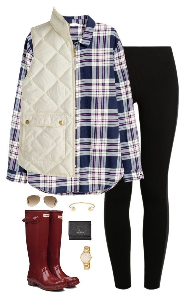 """""""~Float On~"""" by thepinkandgreenprep1 ❤ liked on Polyvore featuring NIKE, H&M, Hunter, J.Crew, Stella & Dot, Kate Spade and Ray-Ban"""