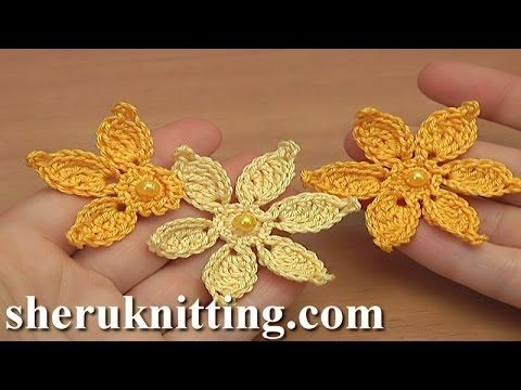 How to Make Crocheted Flower Tutorial 45 Irish Lace - YouTube