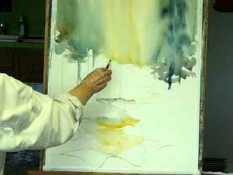 WATERCOLOR LANDSCAPE DEMONSTRATION By MILLIE GIFT SMITH
