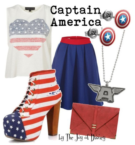 I like this, but maybe with patriotic flats. Mostly because those heels are a bit too much for me.