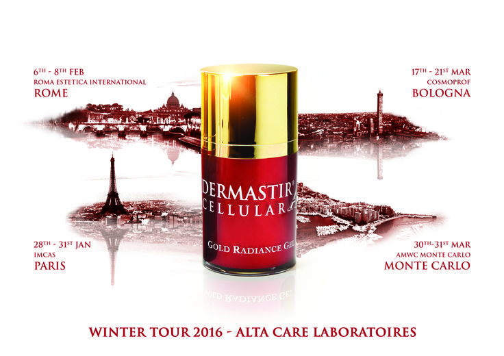 ALTA CARE Laboratoires Winter Tour 2016 .   For more information, please visit: www.dermastir.com #wintertour #dermastir #dermastirluxury #altacarelaboratoires #madeinfrance #luxuryskincare #gold #paris #rome #montecarlo #bologna