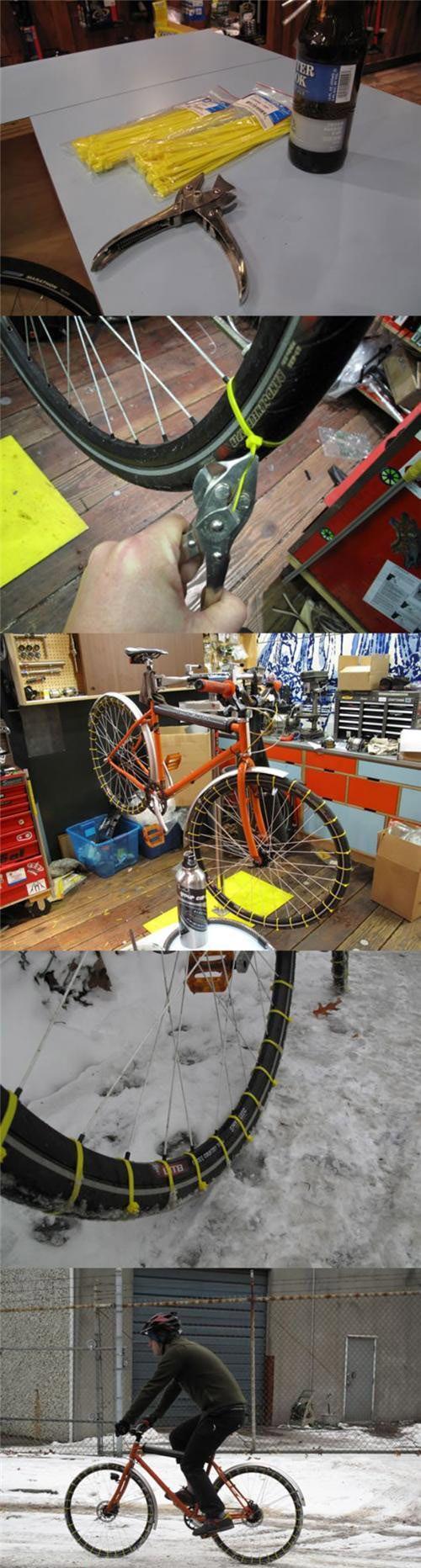 Bike snow tires!