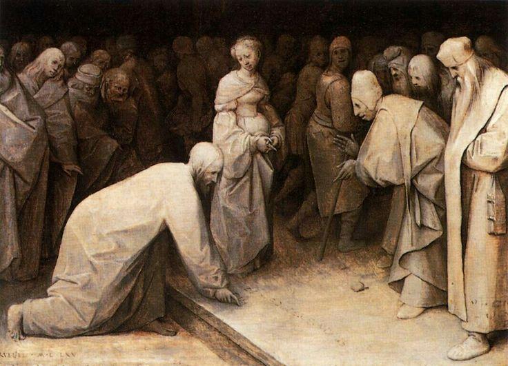 """Pieter Brueghel l'Ancien : """"Le Christ et la femme adultère"""""""