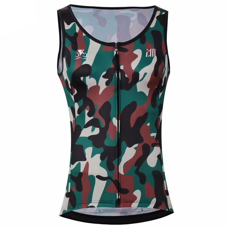 Women's Sleeveless Camouflage Cycling Jersey – Online Cycling Gear