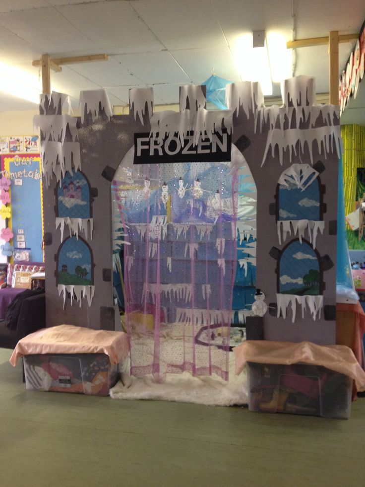 My frozen elsa's castle role play area :-)