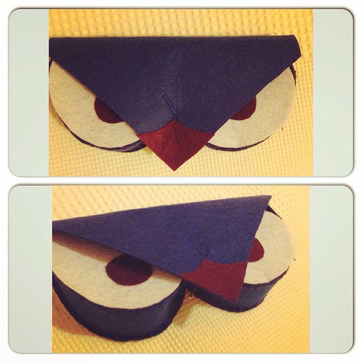 Angry bird sunglasses cover felt