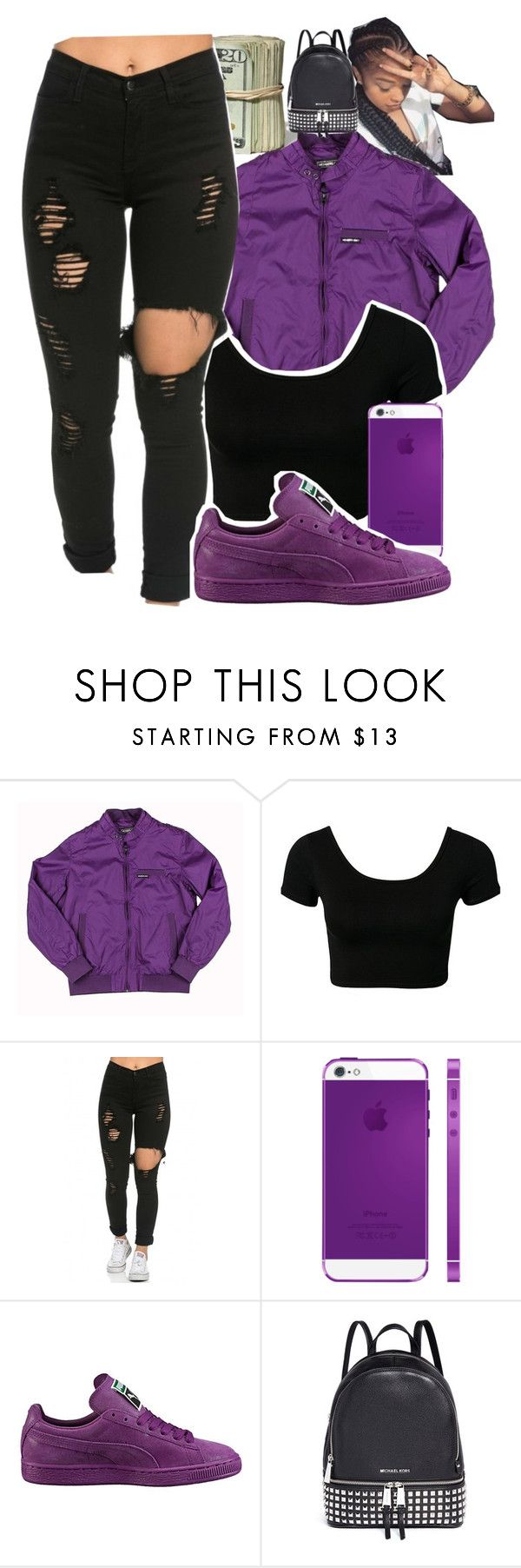 """Untitled #979"" by kaja-bear ❤ liked on Polyvore featuring Members Only, Puma and Michael Kors"