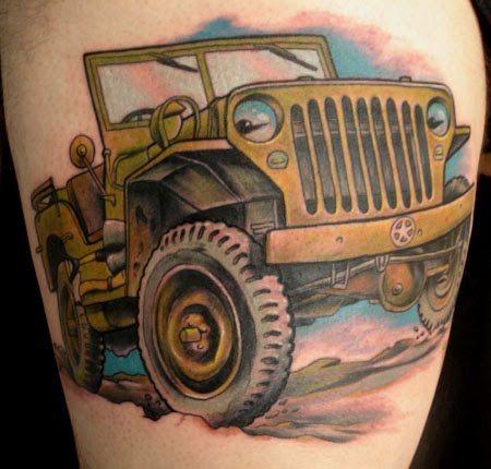 Jeep tattoos   BEAUTY TATTOOS NGAWUR: jeep tattoo