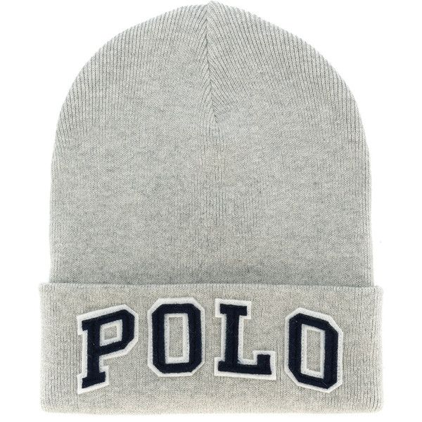 Polo Ralph Lauren Cotton Hat ($68) ❤ liked on Polyvore featuring men's fashion, men's accessories, men's hats, grey, mens cotton beanie hats, mens beanie hats and polo ralph lauren mens hats