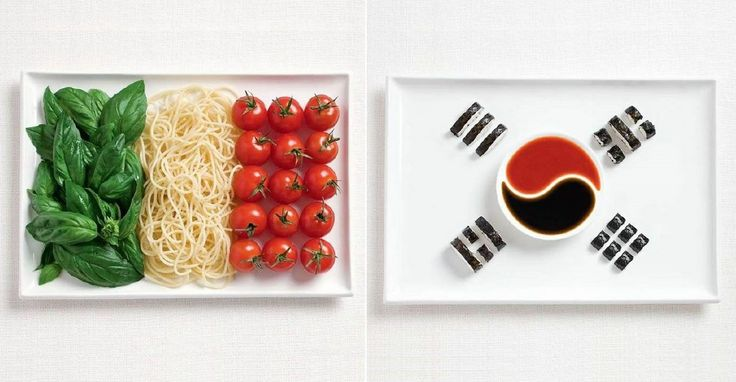 18 National Flags Made From Food.