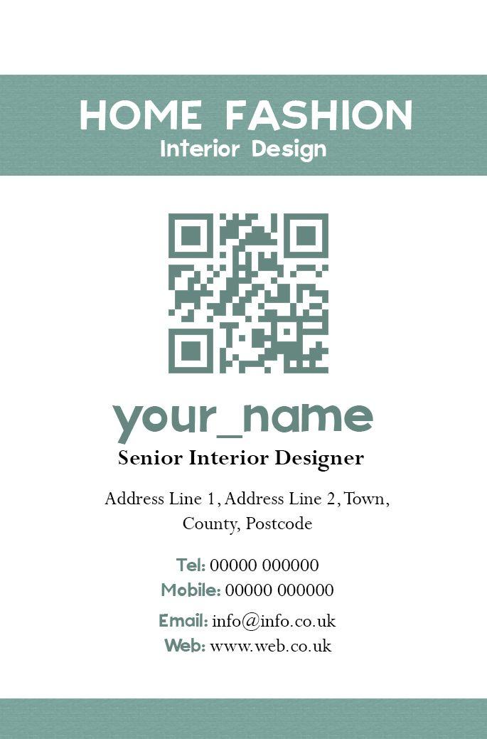 Interior Designer Business Card Front Designed By Me At Nics Designs