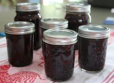 Blueberry and Rhubarb Jam Newfoundland Recipe. Cookbook of Traditional Newfoundland Meals by Newfoundland.ws
