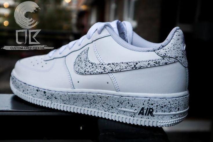 Custom Nike Air Force 1 Oreo Force Splat Trainers Spill | Etsy en ...