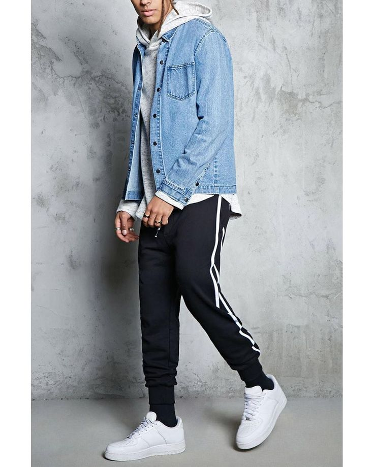 Buy Forever 21 Men's Black Striped French Terry Joggers, starting at $19. Similar products also available. SALE now on!