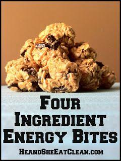 Clean Eat Recipe :: Four Ingredient Energy Bites