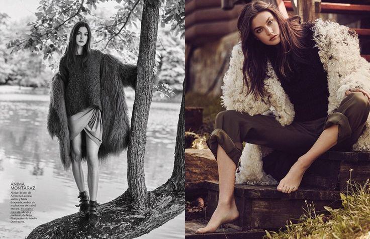 (Left)  Isabel Marant fur jacket. (Right) Nina Ricci jacket & pants w/ Adolfo Dominguez sweater