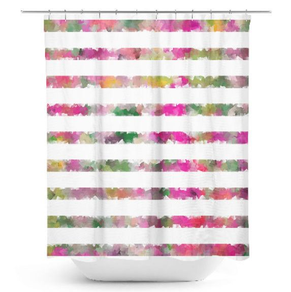 pink and yellow shower curtain. Pink Shower Curtain  Bathroom Decor Bath Colorful Geometric Pattern Fuchsia Green Best 25 shower curtains ideas on Pinterest showers