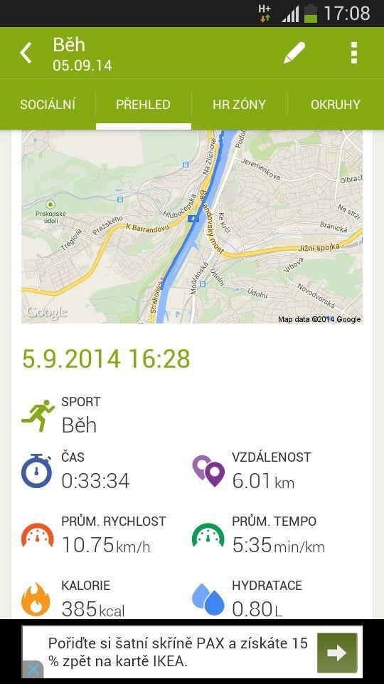 Dnes padlo nejen nejrychlejsich 6km, ale i bicak, prsa a triceps...