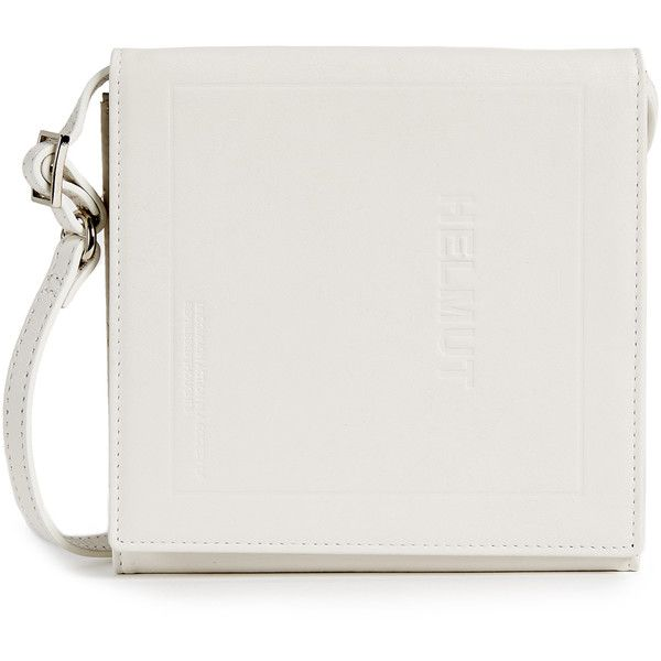 Helmut Lang Trifold CD Wallet Cross Body ($325) ❤ liked on Polyvore featuring bags, wallets, white, genuine leather credit card holder wallet, tri-fold wallets, genuine leather wallet, triple fold wallet and leather snap wallet
