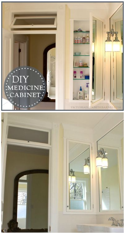 47 best images about our diy bathroom remodel on pinterest for Diy mirrored kitchen cabinets