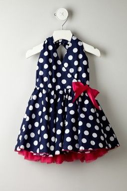 Polka Dot Mesh Trim Dress