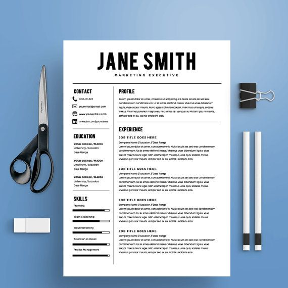 23 best professional resume templates images on pinterest