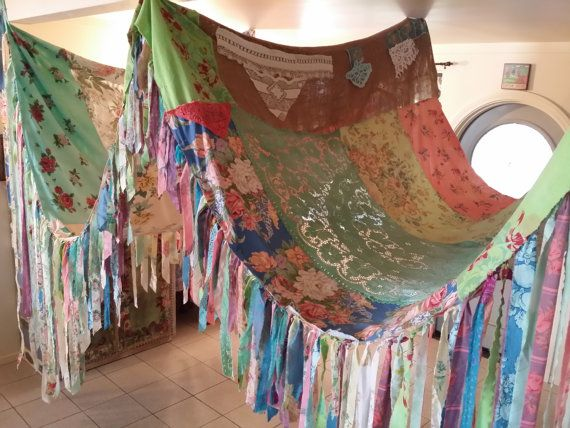 BOHO Tent Canopy teepee vintage textiles Gypsy by HippieWild