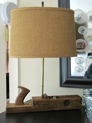 ❤A wood planer tool made into a lamp.❤ sewing craft room ideas