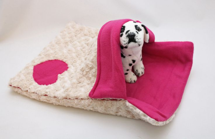 Warm Amp Snuggly 4 Way Pink Furry Puppy Dog Sleeping Bag Bed