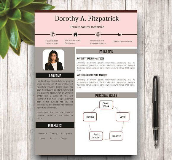 32 best CV \/ Resume Templates in MS Word images on Pinterest - portfolio word template