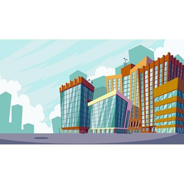 التوضيح الكرتون ناقلات المناظر الطبيعية الحضرية مع وزارة الدفاع الكبيرة كرتون بناء مكتب مقر مركز Png والمتجهات للتحميل مجانا Urban Landscape Cartoon Illustration Illustration