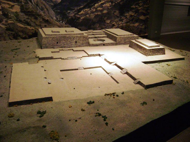 Model of the archaeological site of Chavín de Huantar.