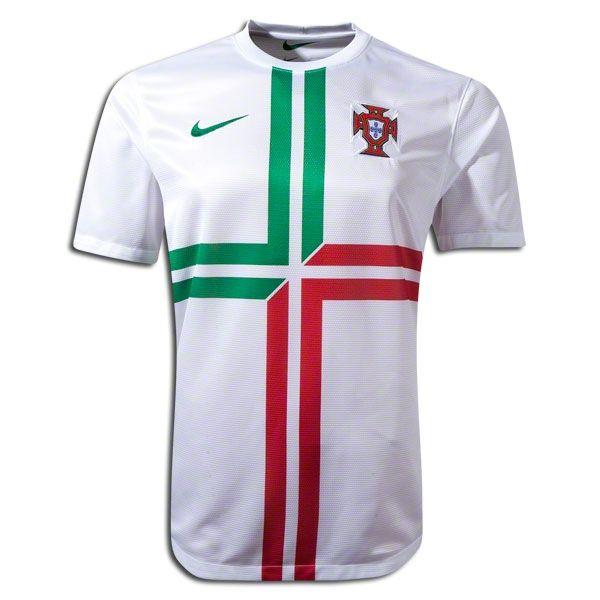 Nike Men\u0027s Portugal 12/13 Away Jersey White/Pine. Nike SoccerSoccer ...