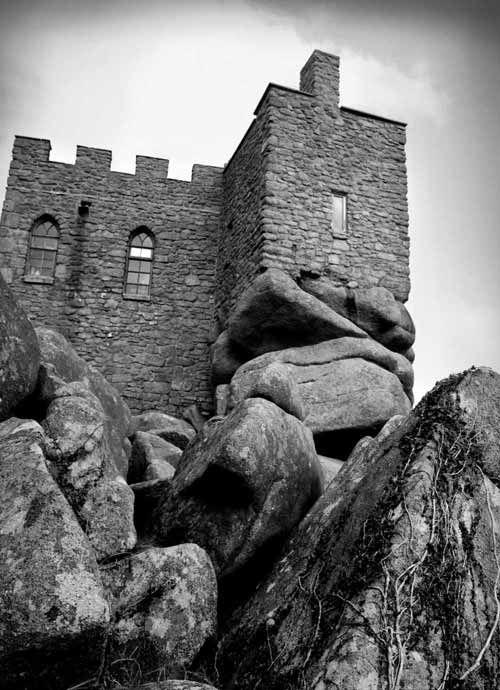 14th century Carn Brae Castle, Cornwall, England, now a restaurant