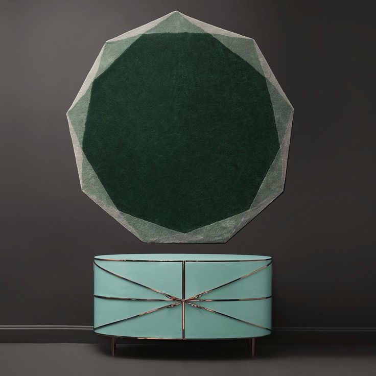 Bon ton and pastel colors are back. Beautiful cabinet and rug designed by Nika Zupanc for Scarlet Splendour.