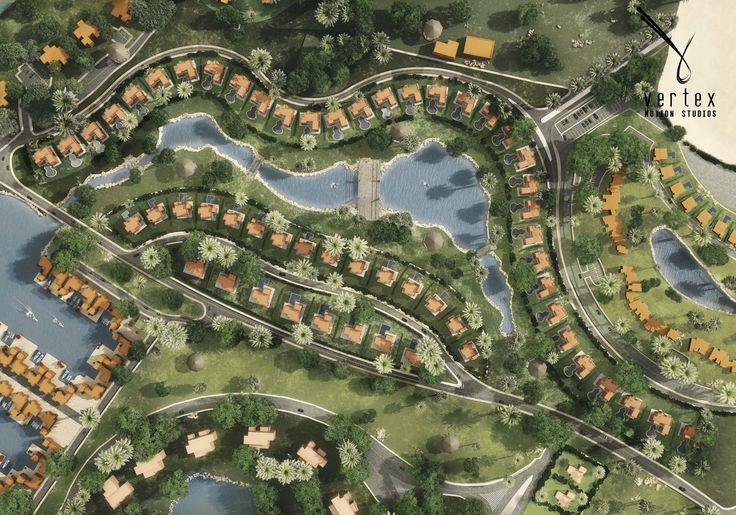 ElGouna Joubal Masterplan Visualization - Orascom Development