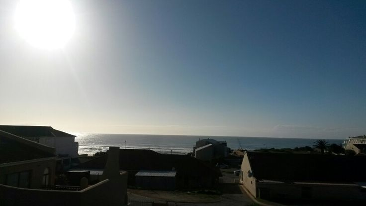 A view of the ocean from the balcony in Jeffrey's Bay, South Africa. Its amazing.